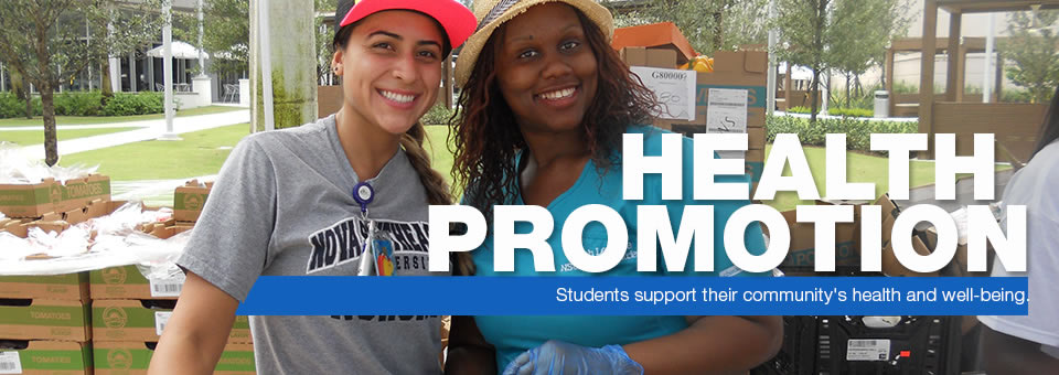 Health Promotion - Students support their community health and well-being